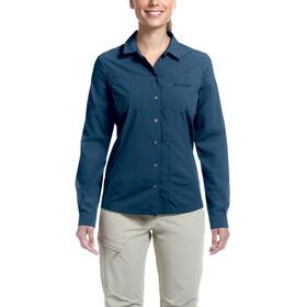 Maier Sports Peregrin - T-shirt manches longues Femme - Bleu pétrole